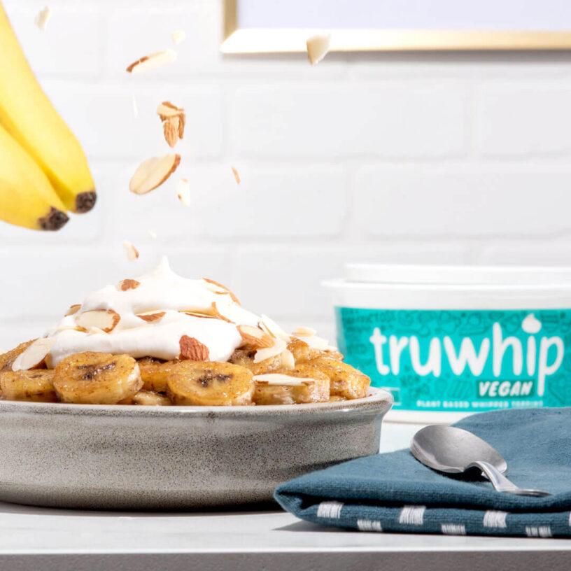 Truwhip 2020 Fall VEGAN Cinnamon Bananas 1x1 FB IG REV