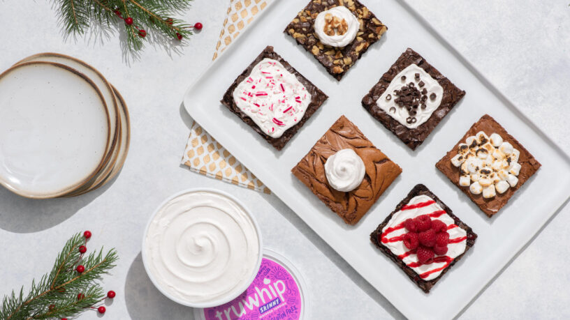 truwhip Holiday Brownies with Toppings Wide