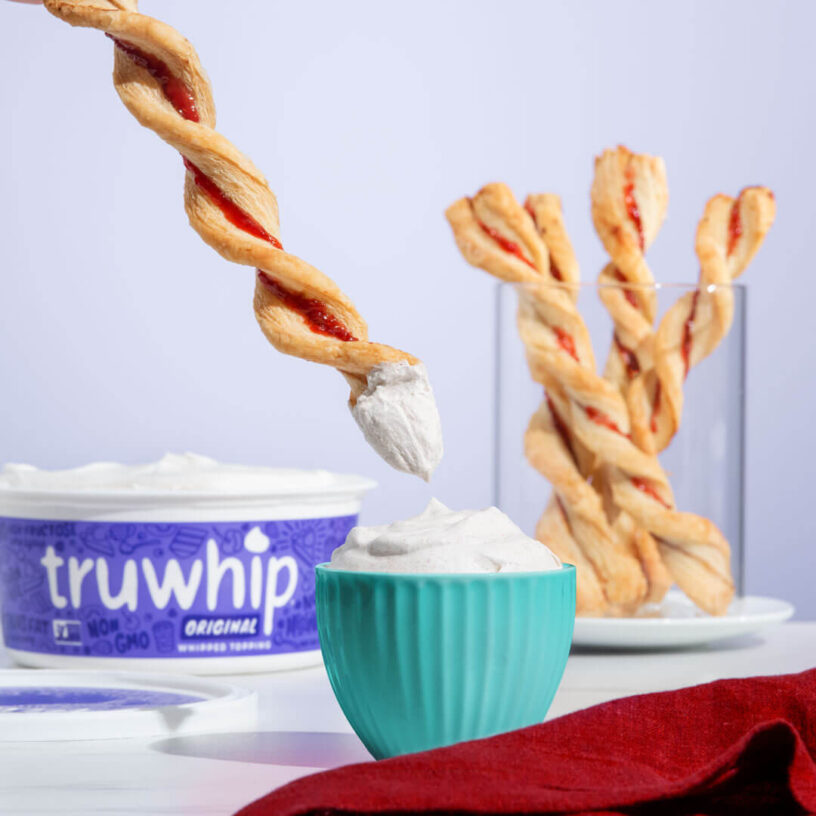 truwhip Holiday Cranberry Twists and Dip